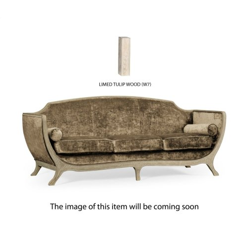 Empire Style Sofa (Limed Tulip Wood/Velvet Calico)