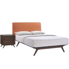 Tracy 2 Piece Queen Bedroom Set in Cappuccino Orange Product Image