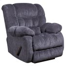 Contemporary Columbia Indigo Blue Microfiber Rocker Recliner with Thick Tufted Back Product Image