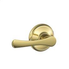 Avila Lever Hall & Closet Lock - Bright Brass
