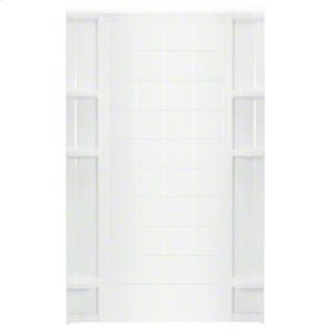 "Ensemble™ 48"" x 72-1/2"" Tile Alcove Shower with Age in Place Backers - Back Wall - White Product Image"