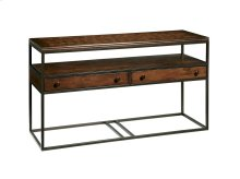 Rectangular Metal & Wood Console Table