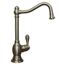 Point of Use instant hot water faucet with a traditional spout and a self-closing handle.