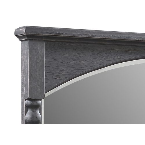 Emerald Home Wallingford Mirror Dark Walnut, Antique Black D750-25