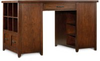 Wendover Utility Desk (One Drawer Pedestal and One Bookcase Pedestal) Product Image