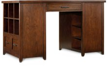 Wendover Utility Desk (One Drawer Pedestal and One Bookcase Pedestal)