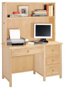 Woodland Natural Desk/Hutch