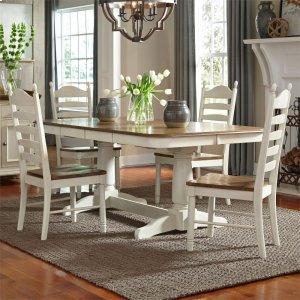 Liberty Furniture Industries5 Piece Double Pedestal Table Set