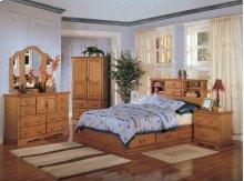 "BOOKCASE BED,LIGHT OAK 92-1/4""LX78""WX52-1/4"""