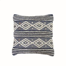 18X18 Hand Woven Raine Pillow Blue