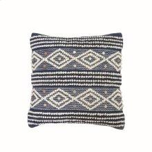 18X18 Hand Woven Raine Pillow Blue