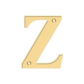 """4"""" Residential Letter Z - PVD Polished Brass"""