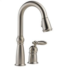 Stainless Single Handle Pull-Down Bar / Prep Faucet