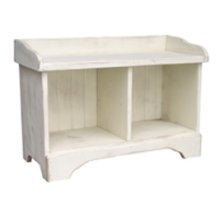 2-Cube Cubby Bench