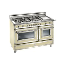 Matt-cream 48 Six-Burner Gas Range