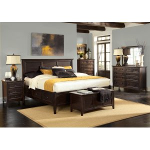 A AmericaCal King Storage Bed