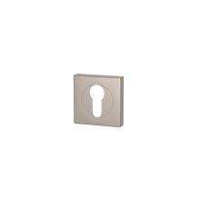 Euro Escutcheons In Satin Nickel