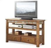 Preston TV Console Sedona Burnished Oak finish