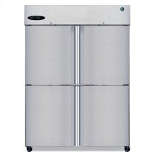 Freezer, Two Section Upright, Half Stainless Door