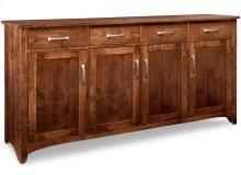 Glengarry Sideboard w/4 Wood Doors & 4/Drws & 3/Wood Adjust.