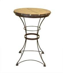 Pub Table W/Iron Base & Wood Top