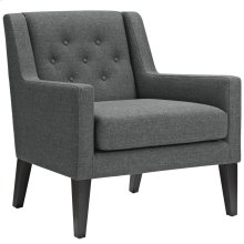 Earnest Upholstered Fabric Armchair in Gray