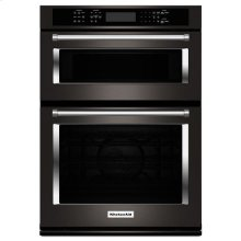 "Black-on-Stainless KitchenAid® 30"" Combination Wall Oven with Even-Heat™ True Convection (Lower Oven)"