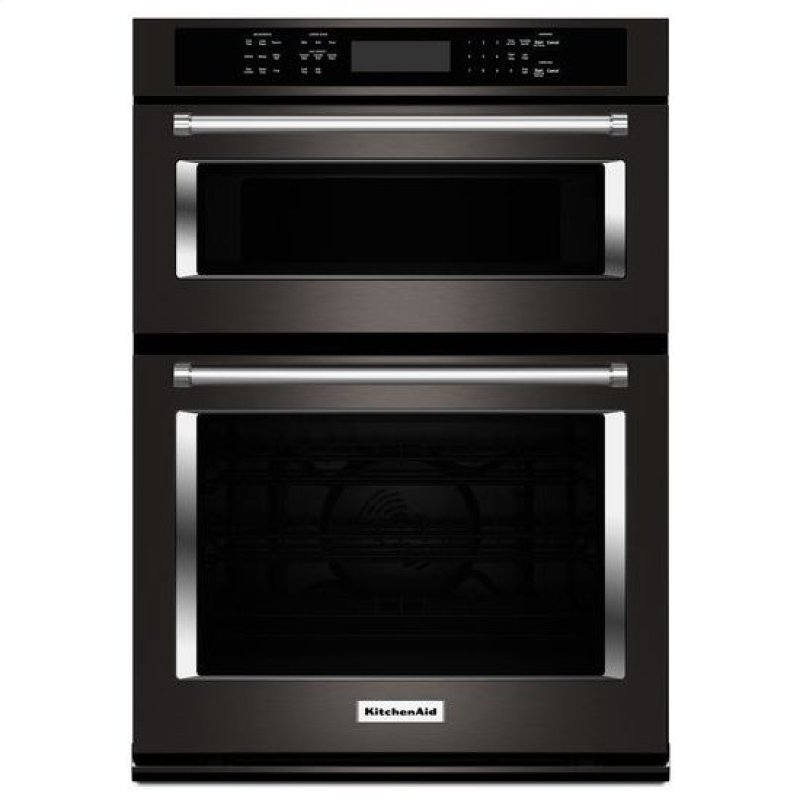 Koce500ebs In Black Stainless By Kitchenaid Tampa Fl On 30 Combination Wall Oven With Even Heat True Convection Lower
