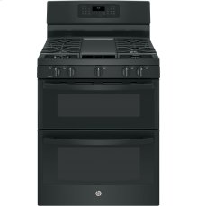 """RED HOT BUY! GE® 30"""" Free-Standing Gas Double Oven Convection Range"""