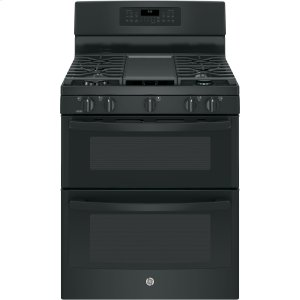 "GE®30"" Free-Standing Gas Double Oven Convection Range"