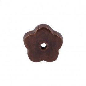 Aspen Flower Backplate 1 Inch - Mahogany Bronze