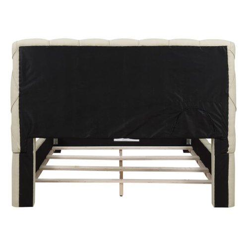 Elsinore Beige Upholstered Full Bed