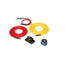 Premium 6 AWG 12V Power Marine Connection Kit, Single Amplifier, Within 10 ft of Battery