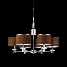6-LIGHT CHANDELIER - Satin Nickel