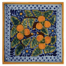 "4"" Peaches Decorative Talavera Tiles"