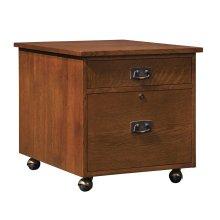 Oak Mobile Printer/file Stand