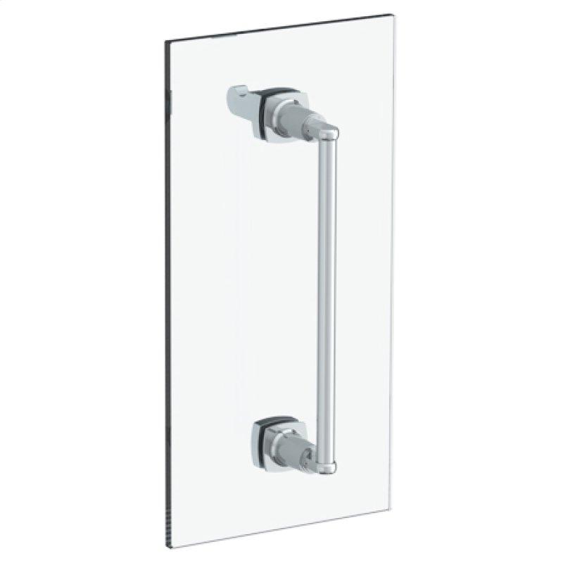 H Line 6 Shower Door Pull With Knob Glass Mount Towel Bar