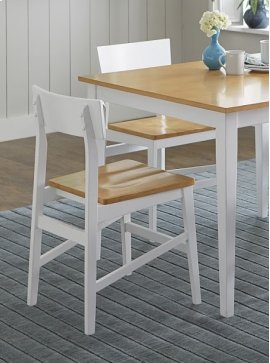 Dining Chair (2/Carton) - Oak/White Finish