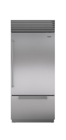 "36"" Classic Over-and-Under Refrigerator/Freezer with Internal Dispenser"