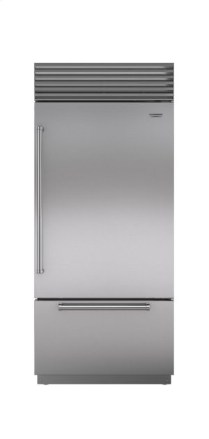 "36"" Built-In Over-and-Under Refrigerator/Freezer with Internal Dispenser"