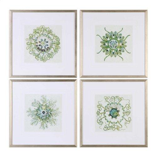 Organic Symbols Framed Prints, S/4