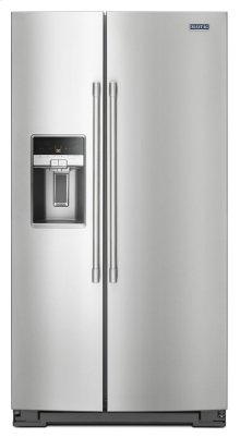 36- Inch Wide Side-by-Side Refrigerator with External Ice and Water- 26 Cu. Ft.