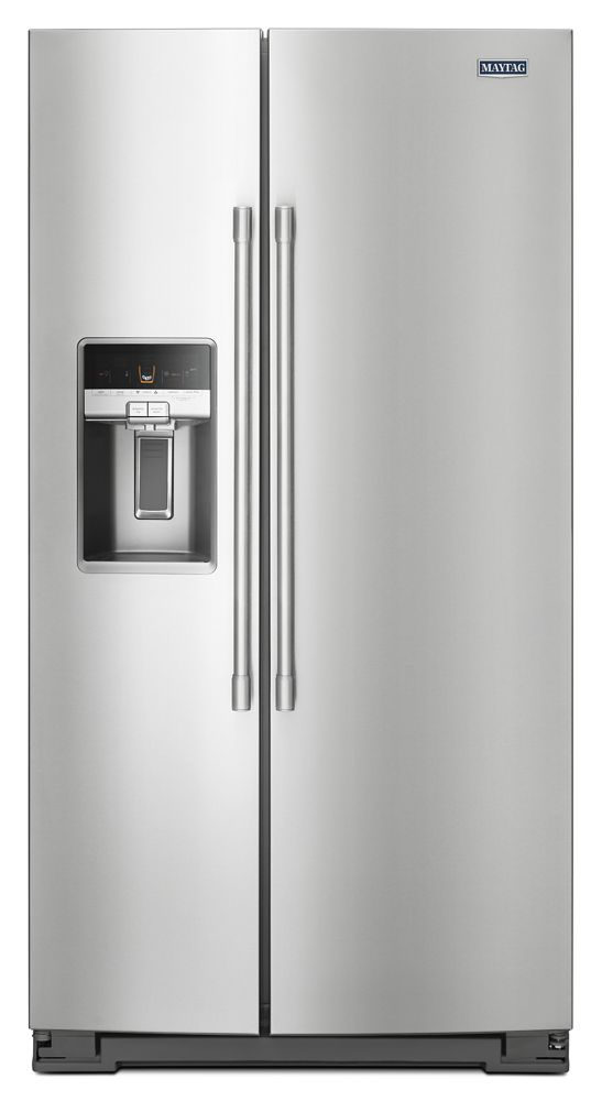 36  Inch Wide Side By Side Refrigerator With External Ice And Water