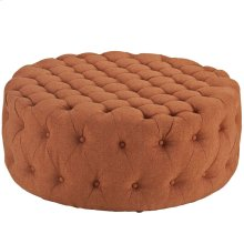 Amour Upholstered Fabric Ottoman in Orange