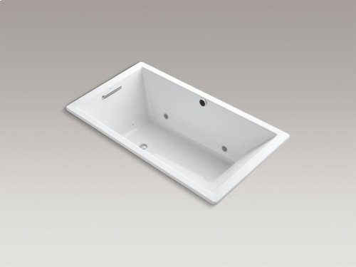 "Almond 66"" X 36"" Drop-in Bubblemassage Air Bath With Bask Heated Suface, Chromatherapy and Reversible Drain"