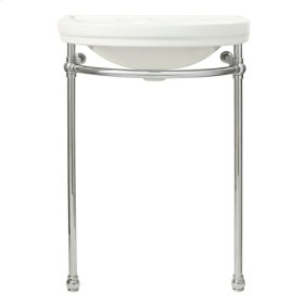 St. George Console Sink - Canvas White / Polished Chrome