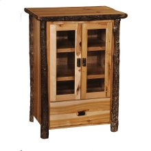 Media Cabinet Rustic Maple