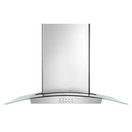 "30"" Modern Glass Wall Mount Range Hood - stainless steel