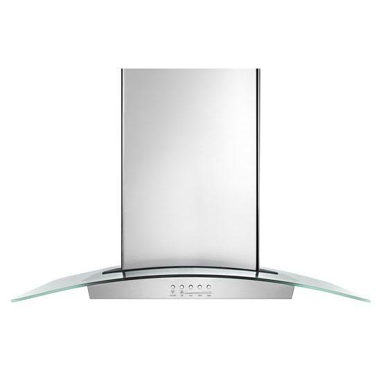 "30"" Modern Glass Wall Mount Range Hood - stainless steel  STAINLESS STEEL"