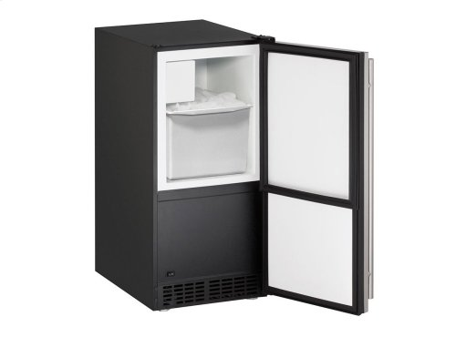 """Ada Series 15"""" Crescent Ice Maker With Stainless Solid Finish and Field Reversible Door Swing"""